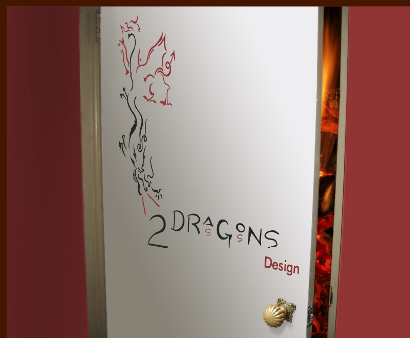2 dragons door