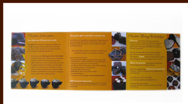 Chocolate 2 Die 4 brochure