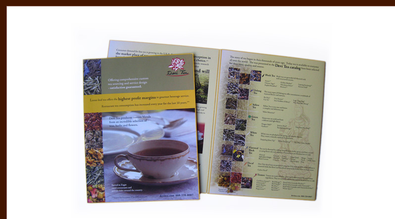 Devi Tea brochure