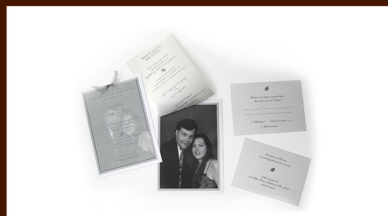 Orehek Hinken wedding invitation