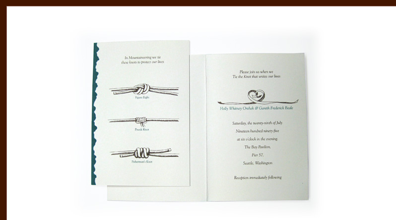 Beale Orehek wedding invitation